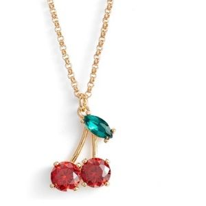 "Kate Spade ""ma cherie"" cherry pendant necklace"